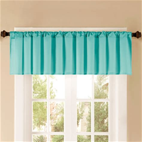 Aqua Valance by Shop Style Selections 52 In L Thermal Aqua Tailored