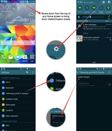 mobile hotspot for android how to use your samsung galaxy s5 as a mobile hotspot