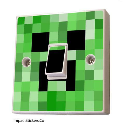 Minecraft Bedroom Light by Light Switch Sticker Vinyl Cover Decal Skin Creeper