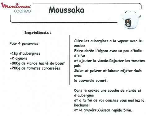 recette cuisine porc moussaka recettes cookeo