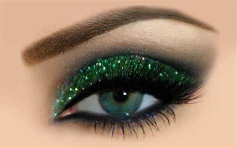 green glitter eyeshadow tutorial green glitter eye makeup