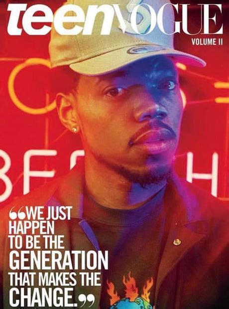Chance The Rapper is the latest cover star of Teen Vogue ...