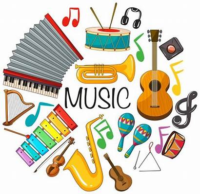 Instruments Musical Different Kinds Vector