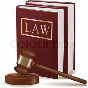 Judge gavel and law books. Photo-realistic vector | Stock ...