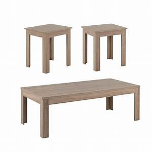 furniture of america vanne 3 piece coffee table set in With light oak coffee table sets