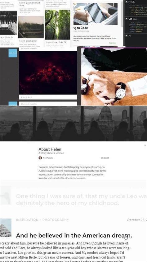 blog archive design inspiration html css snippets