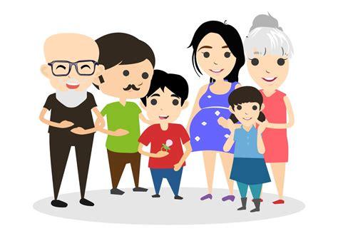 family clipart happy family vector illustration free vector