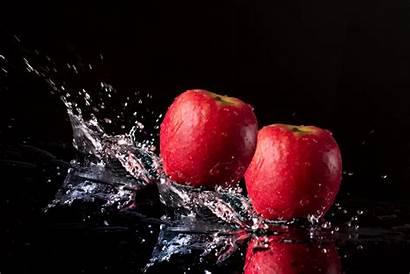 Apples Apple Fruit Water Splashed Being 5k