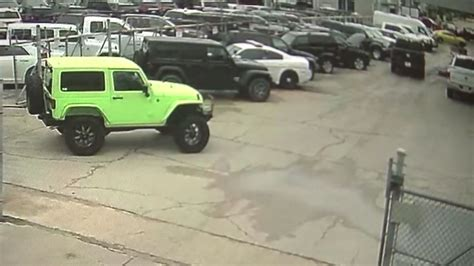 thieves stole  vehicles  river oaks dealership