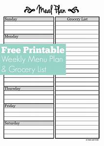 meal planning free weekly menu planner printable With lunch roster template