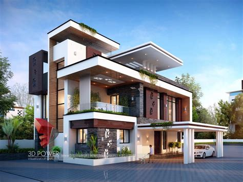 bunglow design  architectural rendering services  architectural visualization  power