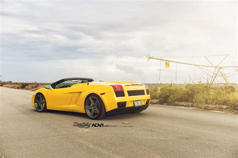 yellow lamborghini yellow lamborghini gallardo adv05 m v2 sl series wheels