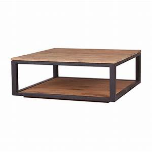 Table En Bois Carré : table basse en bois carr table basse et pliante ~ Teatrodelosmanantiales.com Idées de Décoration
