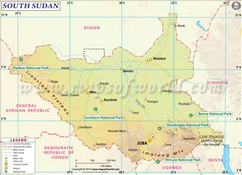 south sudan map map of south sudan