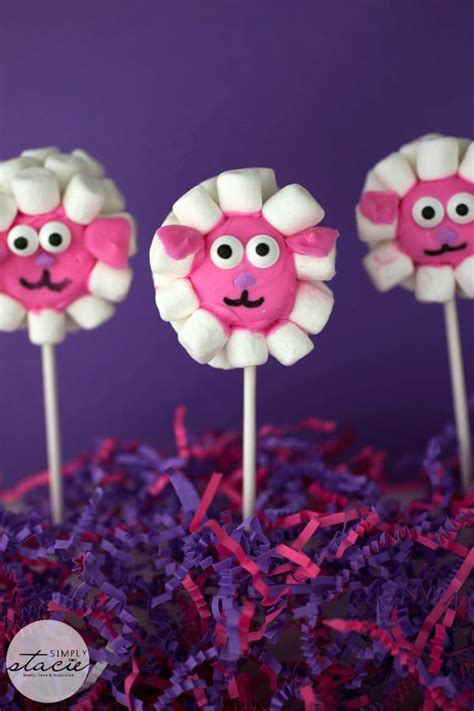 easter lamb marshmallow pops simply stacie