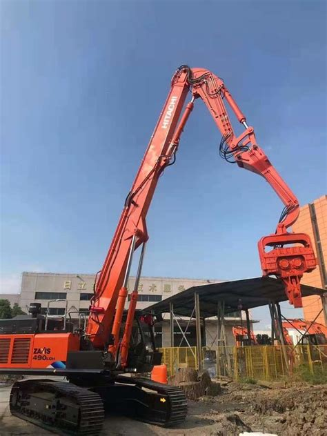 noise excavator mounted pile driver hydraulic pile driver  excavators
