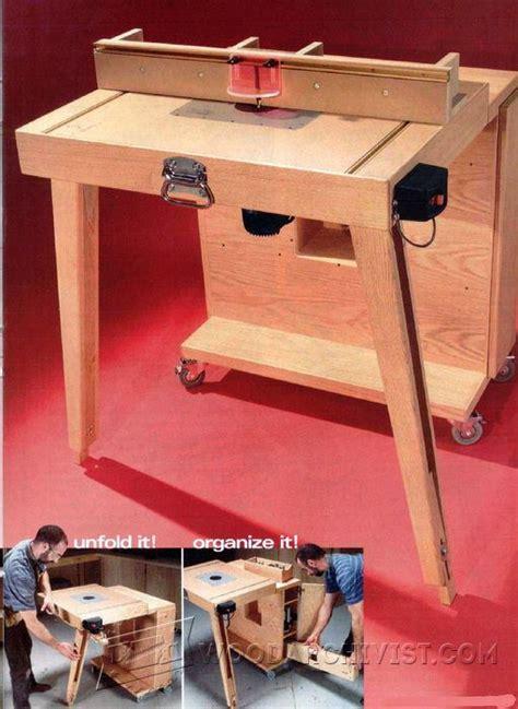 mobile router table plans woodarchivist