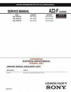 Sony Kdl-32ex725  Kdl-46ex725 Service Manual