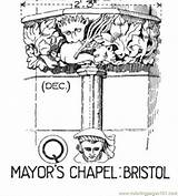 Chapel Coloring Mayors Pages Coloringpages101 Buildings sketch template