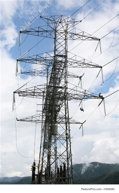 high tension power  workers image