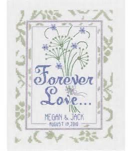 JANLYNN Wedding Sampler Counted Cross Stitch Kit - Forever Love