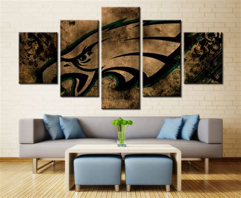 Home Interior Eagle Prints : Philadelphia Eagles American Football Nfl 5 Piece Canvas