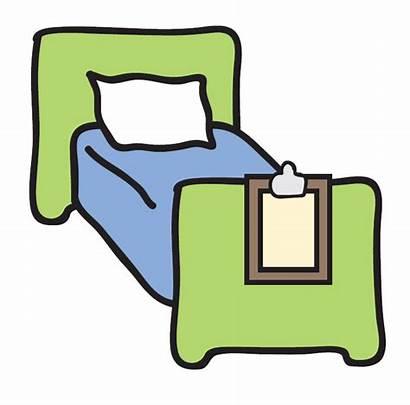 Bed Clipart Clip Hospital Beds Cartoon Microsoft