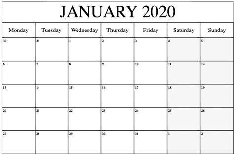 editable january  calendar template calendar