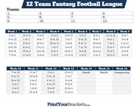 Bowl Pool Template Excel Printable 12 Team Football League Schedule