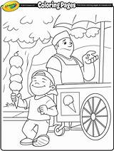 Ice Cream Coloring Pages Vendor Crayola Drawing Printable Sheets Para Spring Colorir Truck Desenhos Colouring Kleurplaten Summer Excitement Drawings Beach sketch template
