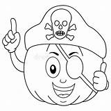 Pirate Eye Patch Coloring Hat Treasure Pumpkin Cartoon Cute Illustration Box Pirates Skull Frame sketch template