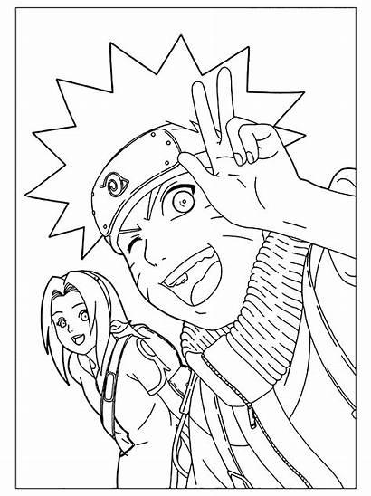 Naruto Sasuke Dessin Coloriage Sakura Enfants Coloriages