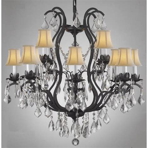 wrought iron chandeliers with shades jackielou 8 in black indoor chandelier with shade