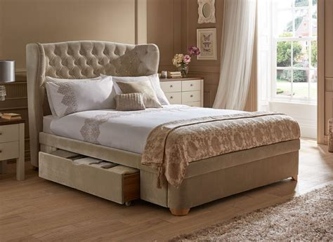 Upholstered Bed Frame by New Maree Velvet Effect Upholstered Bed Frame Home
