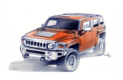 Hummer H3 Alpha Drawing