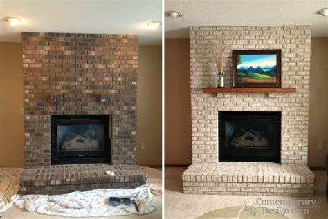 modern fireplace tile painting brick fireplace ideas