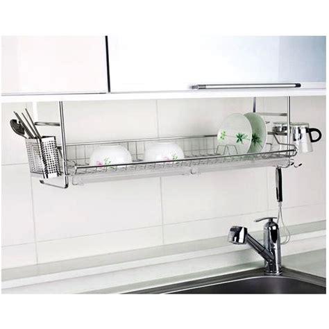 stainless fixing dish drying rack single shelf sink kitchen organizer ebay