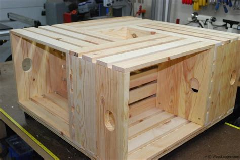 Wood Crate Coffee Table Woodlogger