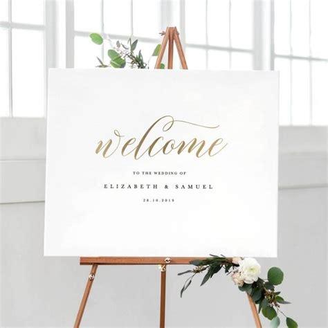 wedding sign template printable