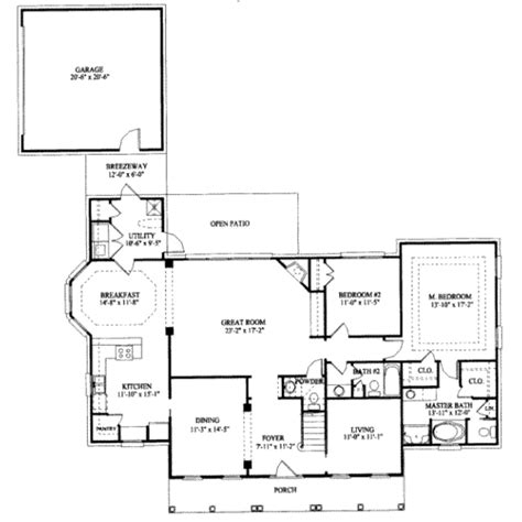 southern style floor plans southern style house plan 4 beds 3 5 baths 2557 sq ft