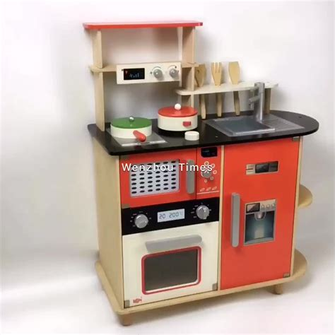 New Design Children Wooden Toy Kitchen Set Best Wooden