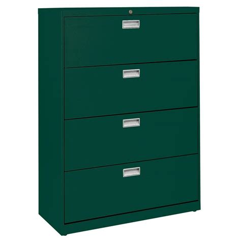 sandusky file cabinet sandusky 600 series 42 in w 4 drawer lateral file cabinet