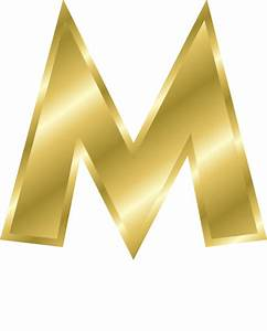 gold letter capitol m signs symbol alphabets numbers With gold letter m