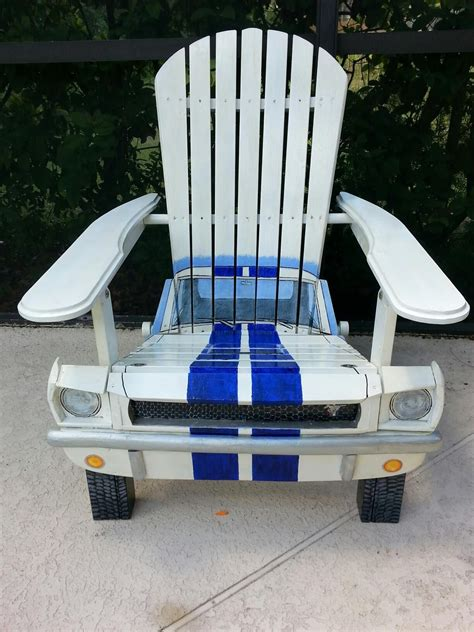 mustang chair painted custom designed automotive