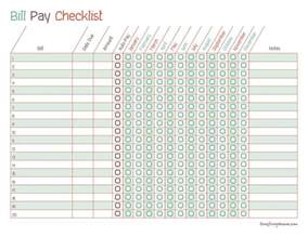 Excel Bill Tracker Template Printable Monthly Bill Payment Checklists