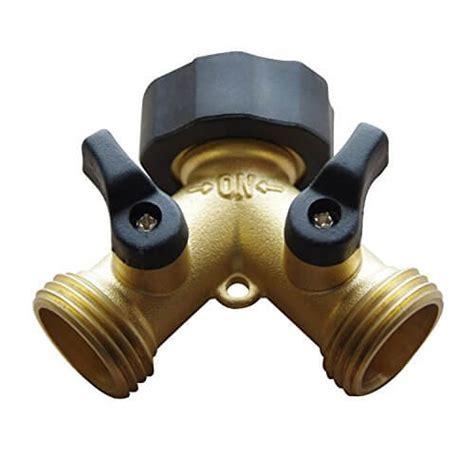 Freehawk® 2 Way Solid Brass Y Valve Garden Hose Connector