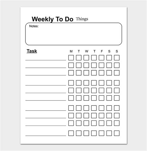 Todo Task List Word Template by Things To Do List Template 20 Printable Checklists