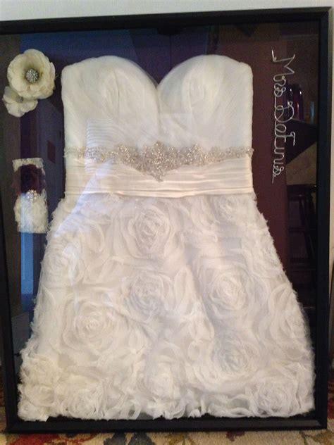 wedding dress shadow box to enjoy my dress headpiece and