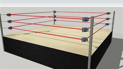 wrestling ring, 20x20ft. competition size | 3D Warehouse