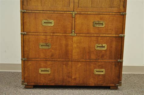 Vintage Campaign Style Gentleman's Chest Or Dresser By